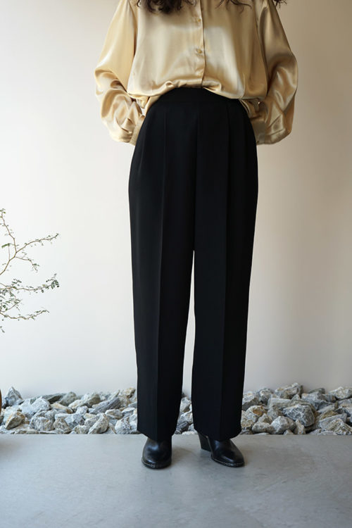 Waist Tucks Tapered Pants