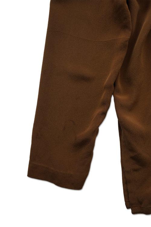 Design Button Silk Blouse
