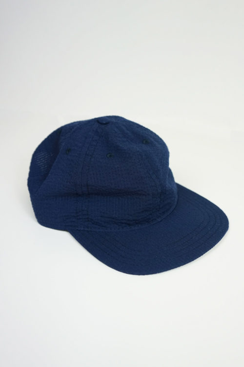 Navy Seersucker Hat / White Check Linen Hat