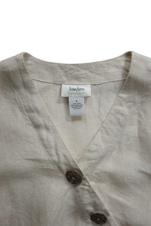 Wood Button Blouse