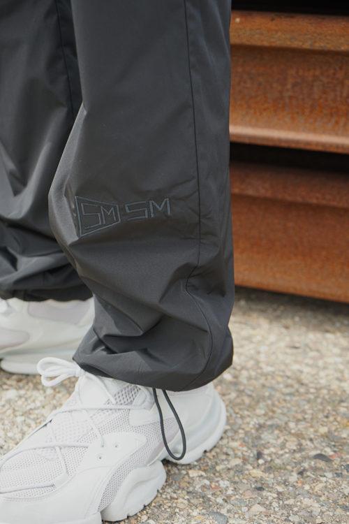 Black w/ Logo Embroidery Track Pants