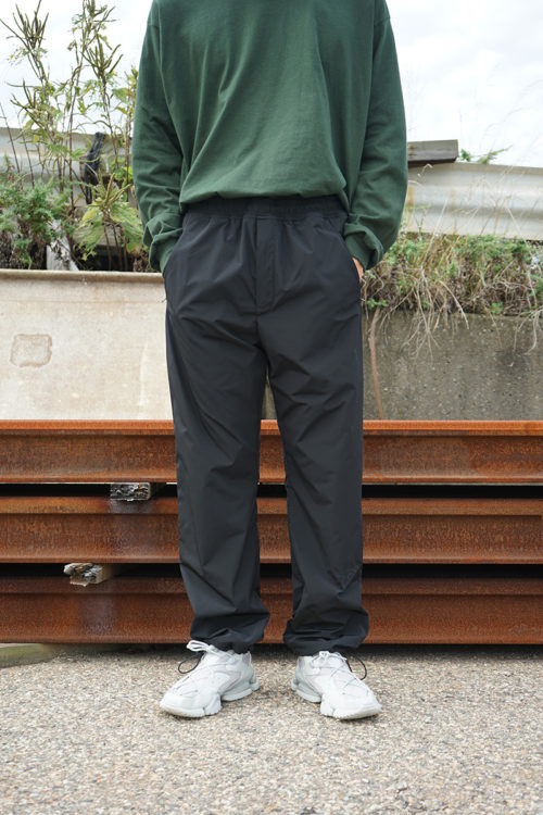 Black w/ Logo Embroidery Track Pants