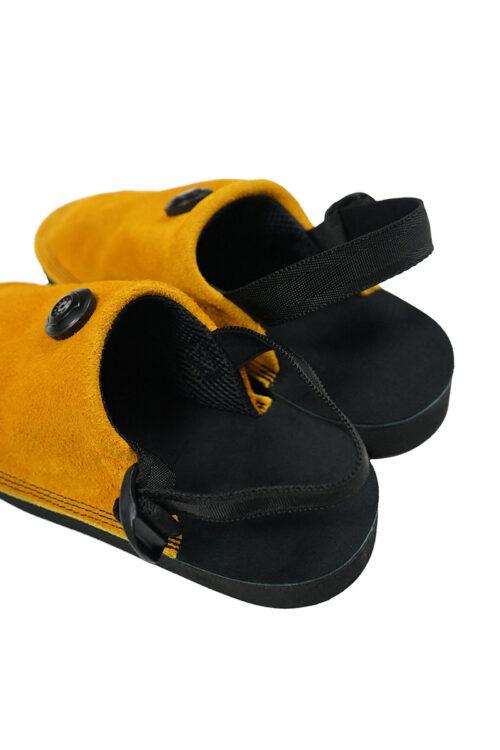 Suede Vibram Adjustable Slipper - Dandelion
