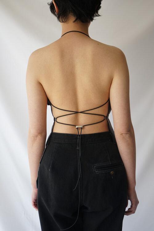 Split String Top - Grey Colo