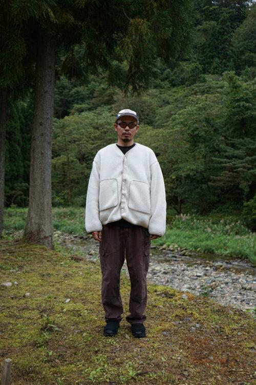Fleece Jacket in Polartec Shearling Fleece - Ivory